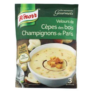Soupe Velours De Cèpes & Champignons De Paris Knorr - My French Grocery
