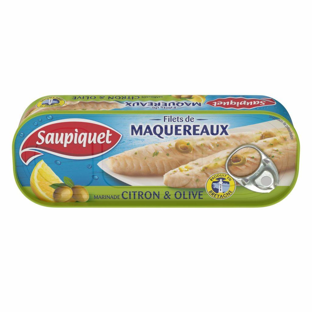 Filets de Maquereaux Au Citron & Huile D'Olive Saupiquet - My French Grocery