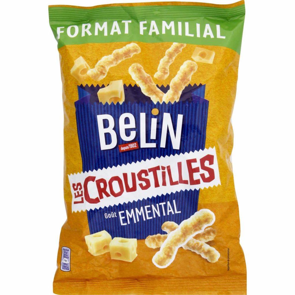 Galletas De Aperitivo Sabor A Queso Croustilles Belin