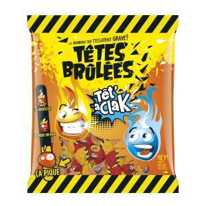 Caramelos Têtes Brulées Cola Tet' A Clak  Bolsita de 180g