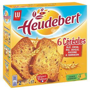 Biscottes 6 Céréales Heudebert - My French Grocery