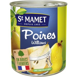Fruits Au Sirop Demi-Poires Williams St-Mamet - My French Grocery
