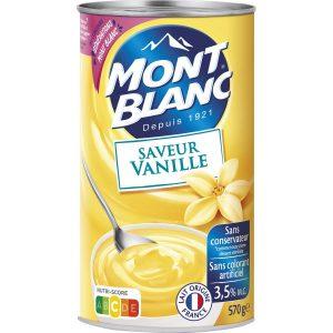 Crema De Postre De Vainilla Mont-Blanc
