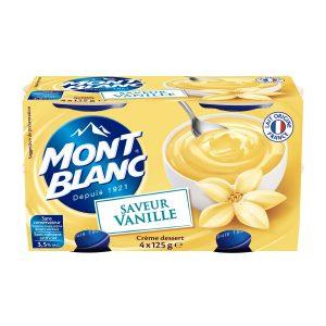 Cremas De Postre De Vainilla Mont-Blanc