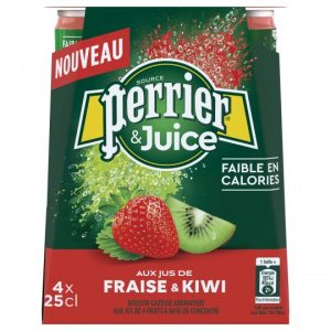 Boisson Gazeuse Fraise Kiwi Perrier - My French Grocery