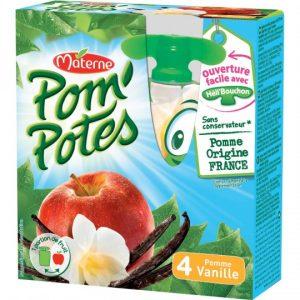 Apple & vanilla Pom'Potes Materne
