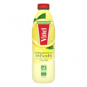 Organic Lemon & Mint Infused Water Vittel