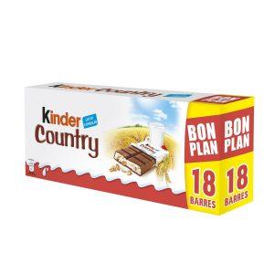 Barritas De Chocolate & Cereales Kinder Country X18