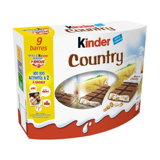 Cereal Chocolate Bars Kinder Country X9