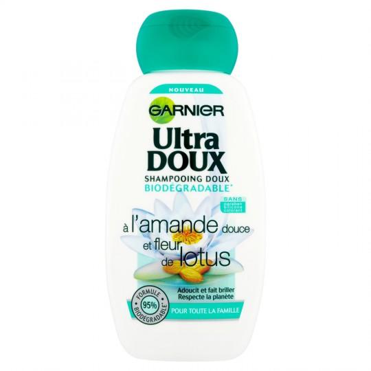 Shampooing à L'Amande Douce & Fleur De Lotus Garnier Ultra Doux - My French Grocery