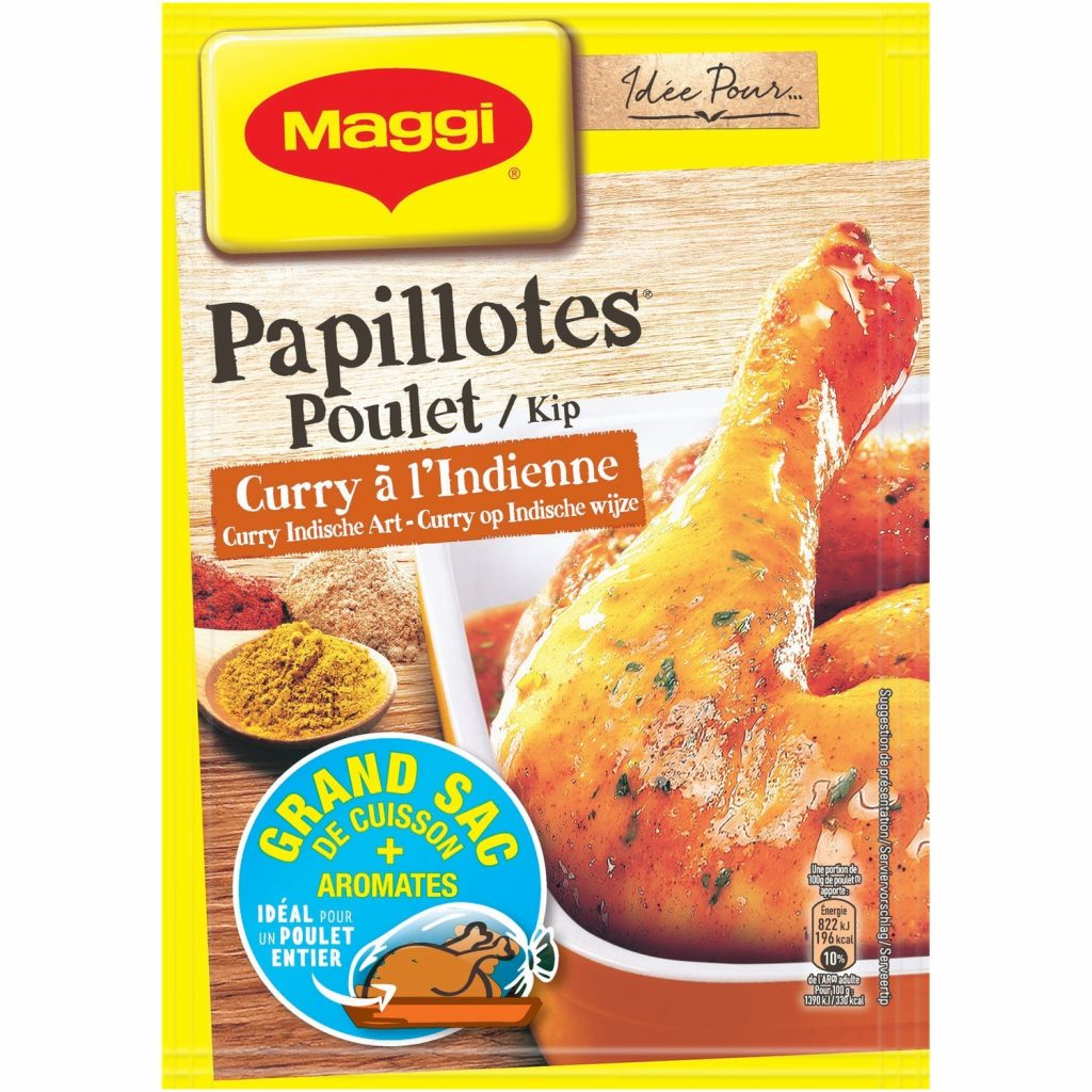 Papillotes Poulet Curry Maggi