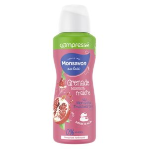 Desodorante Comprimido Alumbre - Granada - Hibisco Monsavon