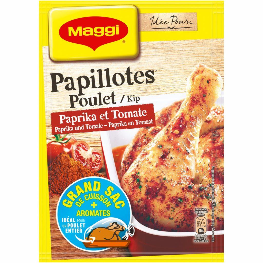 Papillotes de Pollo Tomate & Pimentón Maggi