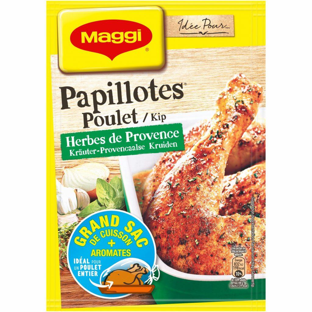 Papillotes Poulet Herbes de Provence Maggi
