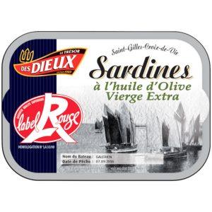 Sardines à L'Huile D'olive Label Rouge Les Dieux